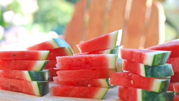 watermelon, slices, berry