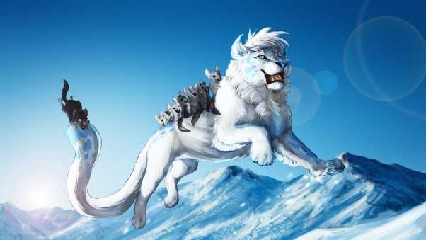 white lion, animals, games