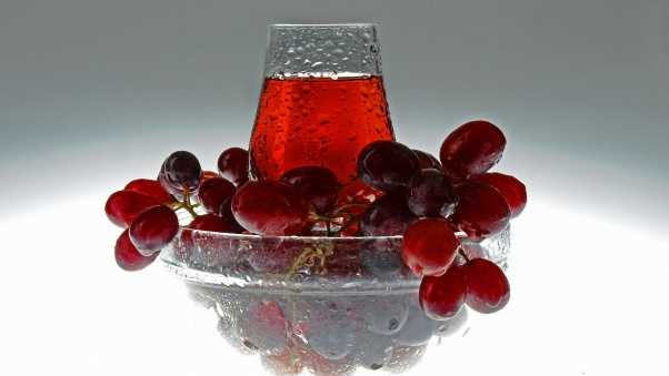 wine, grapes, glass