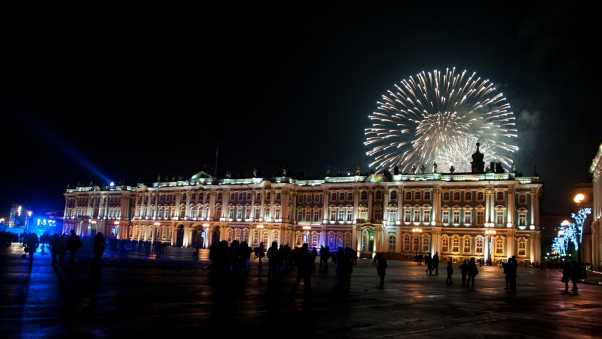 winter palace, new year, night