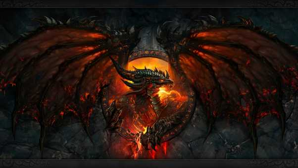 world of warcraft, dragon, fire