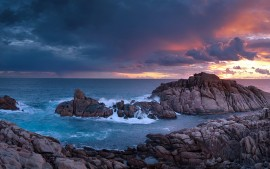 Sunset Time Canal Rocks...