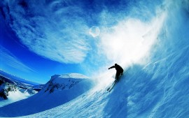 Skiing Over Snow