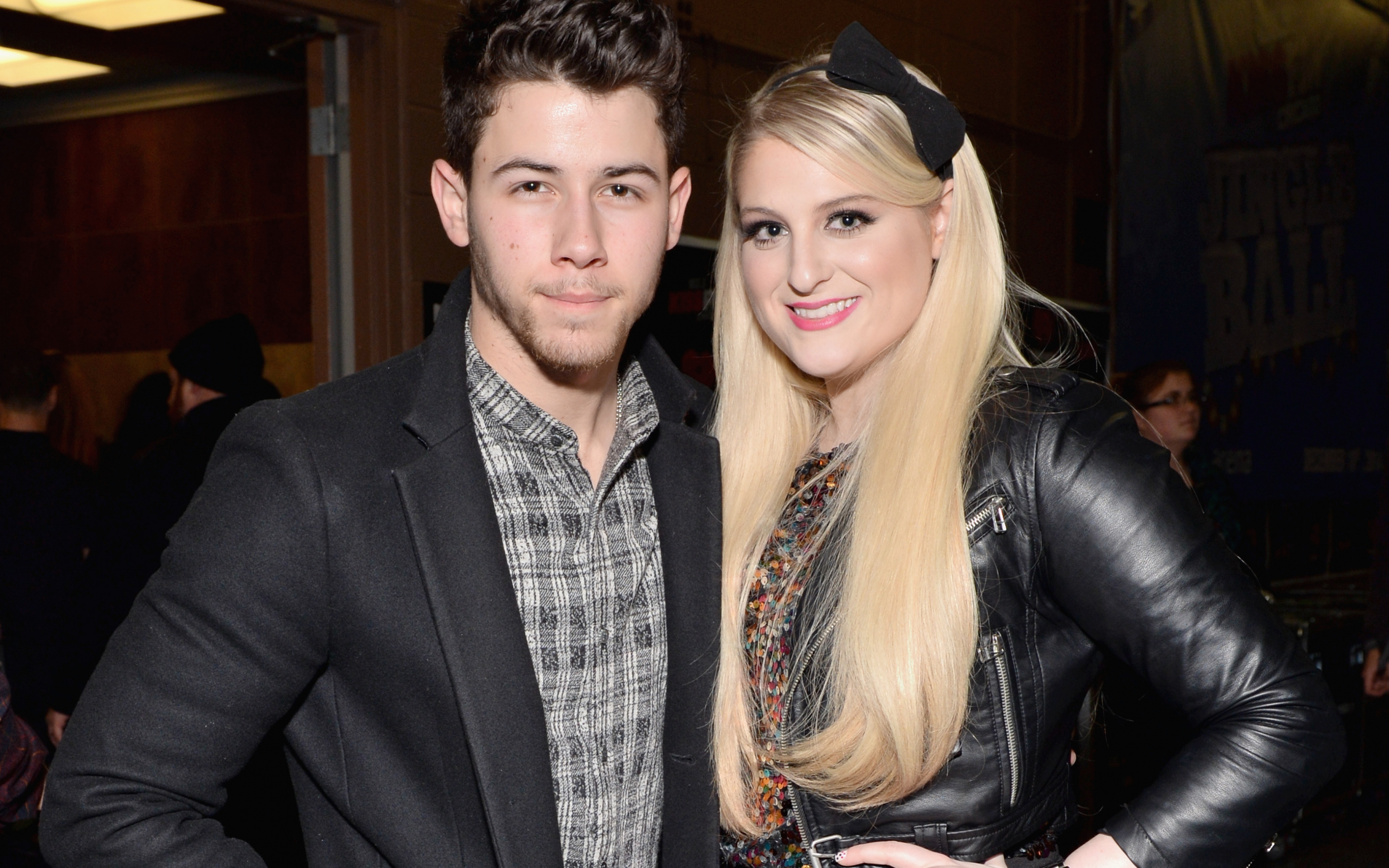nick jonas, meghan trainor, celebrities