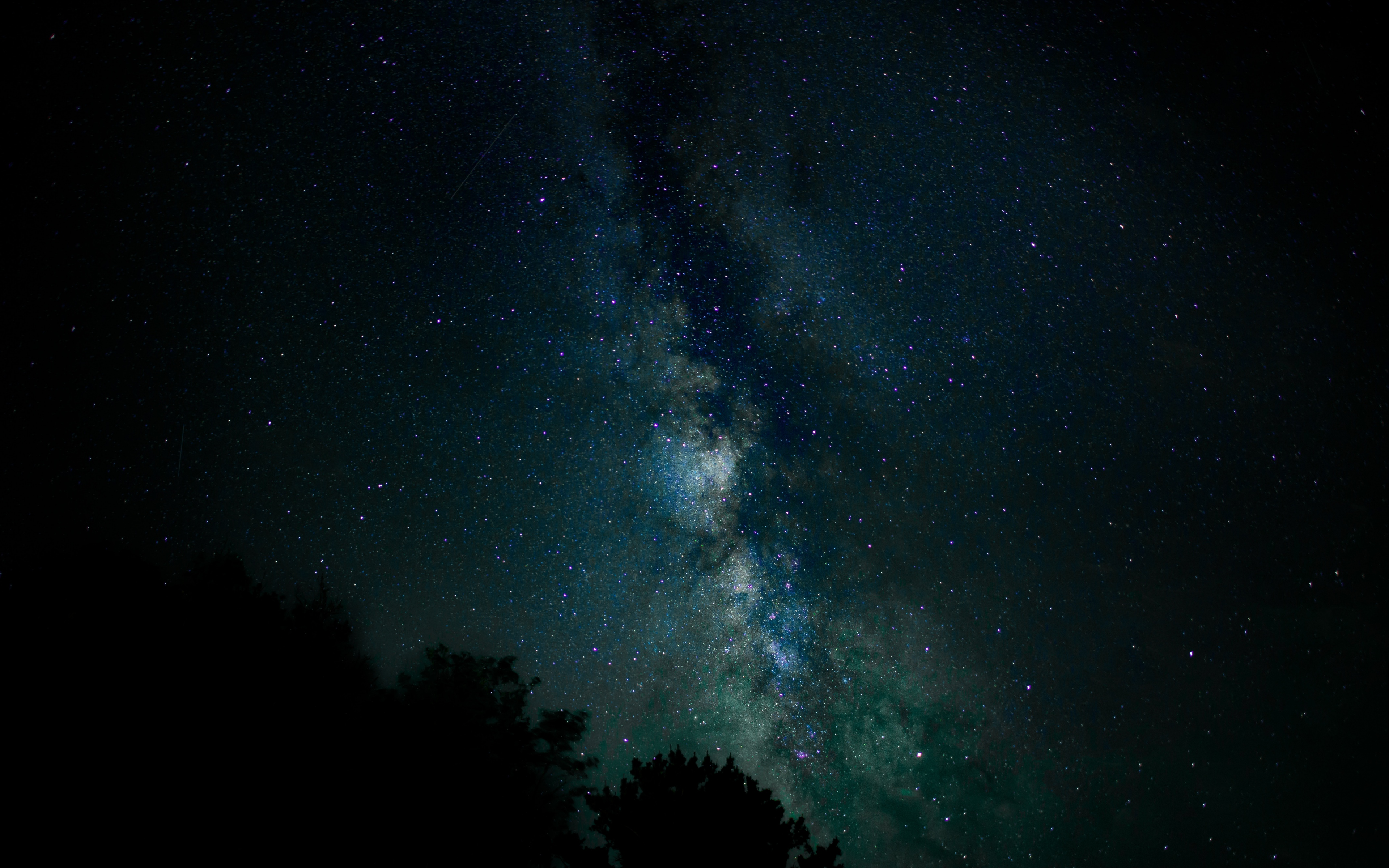 starry sky, stars, milky way